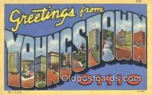 LLT200660 - Youngstown, Ohio, USA Large Letter Town Postcard Post Card Old Vintage Antique