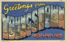 LLT200661 - Youngstown, Ohio, USA Large Letter Town Postcard Post Card Old Vintage Antique