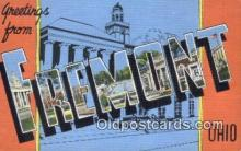 LLT200662 - Fremont, Ohio, USA Large Letter Town Postcard Post Card Old Vintage Antique
