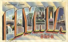 LLT200664 - Flyria, Ohio, USA Large Letter Town Postcard Post Card Old Vintage Antique