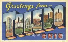 LLT200667 - Toledo, Ohio, USA Large Letter Town Postcard Post Card Old Vintage Antique