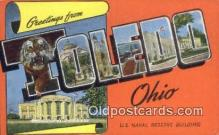 LLT200669 - Toledo, Ohio, USA Large Letter Town Postcard Post Card Old Vintage Antique