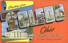 LLT200670 - Toledo, Ohio, USA Large Letter Town Postcard Post Card Old Vintage Antique