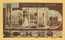 LLT200671 - Toledo, Ohio, USA Large Letter Town Postcard Post Card Old Vintage Antique