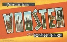 LLT200674 - Wooster, Ohio, USA Large Letter Town Postcard Post Card Old Vintage Antique
