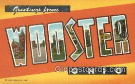 LLT200674 - Wooster, Ohio, USA Large Letter Town Postcard Post Card Old Vintage Antique