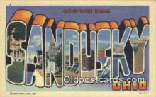 LLT200676 - Sandusky, Ohio, USA Large Letter Town Postcard Post Card Old Vintage Antique