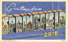 LLT200677 - Springfield, Ohio, USA Large Letter Town Postcard Post Card Old Vintage Antique