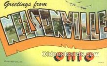 LLT200678 - Nelsonville, Ohio, USA Large Letter Town Postcard Post Card Old Vintage Antique