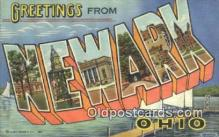 LLT200679 - Newark, Ohio, USA Large Letter Town Postcard Post Card Old Vintage Antique