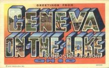 LLT200683 - Geneva on the Lake, Ohio, USA Large Letter Town Postcard Post Card Old Vintage Antique