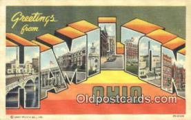 LLT200684 - Hamilton, Ohio, USA Large Letter Town Postcard Post Card Old Vintage Antique
