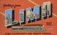 LLT200687 - Lima, Ohio, USA Large Letter Town Postcard Post Card Old Vintage Antique