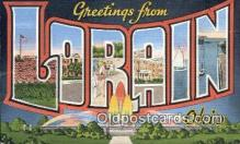 LLT200689 - Lorain, Ohio, USA Large Letter Town Postcard Post Card Old Vintage Antique