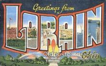 LLT200690 - Lorain, Ohio, USA Large Letter Town Postcard Post Card Old Vintage Antique