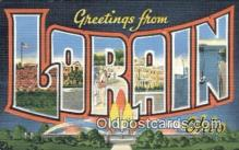 LLT200691 - Lorain, Ohio, USA Large Letter Town Postcard Post Card Old Vintage Antique