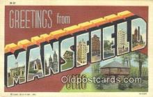 LLT200693 - Mansfield, Ohio, USA Large Letter Town Postcard Post Card Old Vintage Antique