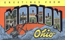 LLT200694 - Marion, Ohio, USA Large Letter Town Postcard Post Card Old Vintage Antique