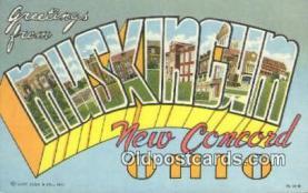 LLT200695 - Muskingum, Ohio, USA Large Letter Town Postcard Post Card Old Vintage Antique