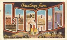 LLT200697 - Lorain, Ohio, USA Large Letter Town Postcard Post Card Old Vintage Antique