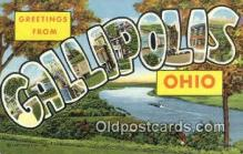 LLT200699 - Callipolis, Ohio, USA Large Letter Town Postcard Post Card Old Vintage Antique