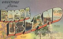 LLT200700 - Rhode Island USA Large Letter Town Vintage Postcard Old Post Card Antique Postales, Cartes, Kartpostal