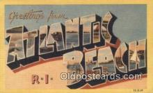 LLT200701 - Atlantic Beach, RI USA Large Letter Town Vintage Postcard Old Post Card Antique Postales, Cartes, Kartpostal
