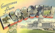 LLT200706 - Missouri USA Large Letter Town Vintage Postcard Old Post Card Antique Postales, Cartes, Kartpostal