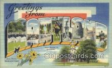 LLT200716 - Maryland USA Large Letter Town Vintage Postcard Old Post Card Antique Postales, Cartes, Kartpostal