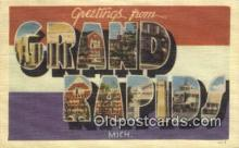 LLT200717 - Grand Rapids, Mich USA Large Letter Town Vintage Postcard Old Post Card Antique Postales, Cartes, Kartpostal
