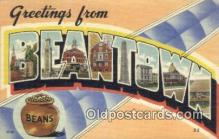 LLT200722 - Beantown USA Large Letter Town Vintage Postcard Old Post Card Antique Postales, Cartes, Kartpostal