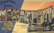 LLT200723 - Massachusetts USA Large Letter Town Vintage Postcard Old Post Card Antique Postales, Cartes, Kartpostal