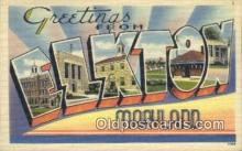 LLT200724 - Elkton, Maryland USA Large Letter Town Vintage Postcard Old Post Card Antique Postales, Cartes, Kartpostal