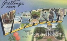 LLT200725 - Vermont USA Large Letter Town Vintage Postcard Old Post Card Antique Postales, Cartes, Kartpostal