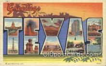 LLT200726 - Texas USA Large Letter Town Vintage Postcard Old Post Card Antique Postales, Cartes, Kartpostal