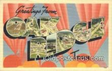 LLT200728 - Oak Ridge, Tenn USA Large Letter Town Vintage Postcard Old Post Card Antique Postales, Cartes, Kartpostal