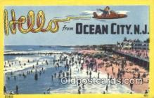 LLT200730 - Ocean City, NJ USA Large Letter Town Vintage Postcard Old Post Card Antique Postales, Cartes, Kartpostal