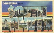 LLT200733 - South Dakota USA Large Letter Town Vintage Postcard Old Post Card Antique Postales, Cartes, Kartpostal