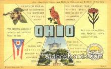 LLT200736 - Ohio USA Large Letter Town Vintage Postcard Old Post Card Antique Postales, Cartes, Kartpostal