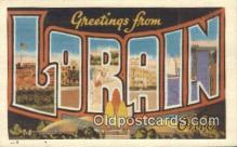 LLT200737 - Lorain, Ohio USA Large Letter Town Vintage Postcard Old Post Card Antique Postales, Cartes, Kartpostal