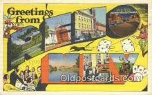 LLT200744 - Reno, NEV USA Large Letter Town Vintage Postcard Old Post Card Antique Postales, Cartes, Kartpostal