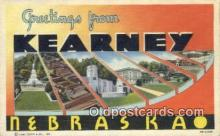 LLT200745 - Kearney, Nebraska USA Large Letter Town Vintage Postcard Old Post Card Antique Postales, Cartes, Kartpostal