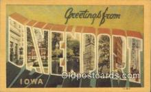 LLT200747 - Davenport, Iowa USA Large Letter Town Vintage Postcard Old Post Card Antique Postales, Cartes, Kartpostal