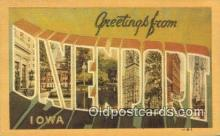 LLT200748 - Davenport, Iowa USA Large Letter Town Vintage Postcard Old Post Card Antique Postales, Cartes, Kartpostal