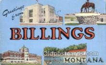 LLT200753 - Billings, Montana USA Large Letter Town Vintage Postcard Old Post Card Antique Postales, Cartes, Kartpostal