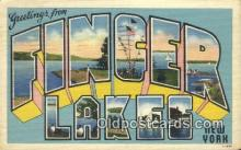 LLT200755 - Finger Lakes, New York USA Large Letter Town Vintage Postcard Old Post Card Antique Postales, Cartes, Kartpostal