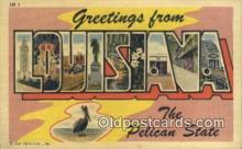 LLT200760 - Louisiana USA Large Letter Town Vintage Postcard Old Post Card Antique Postales, Cartes, Kartpostal