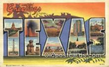 LLT200769 - Texas USA Large Letter Town Vintage Postcard Old Post Card Antique Postales, Cartes, Kartpostal