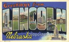 LLT200775 - Lincoln, Nebraska USA Large Letter Town Vintage Postcard Old Post Card Antique Postales, Cartes, Kartpostal