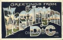 LLT200776 - Washington DC USA Large Letter Town Vintage Postcard Old Post Card Antique Postales, Cartes, Kartpostal